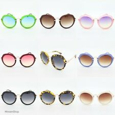 Womens Noir Ispired Round Fashion Sunglasses Miu Style Eyewear