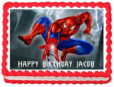 SPIDERMAN Birthday Image Edible Cake topper