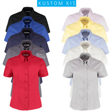 Kustom Kit Ladies Short Sleeve Oxford Shirt (KK701)