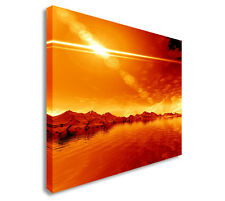 Landscape. 3D Computer Graphics. Sunny Rays Canvas Wall Art prints high quality