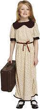 Kids WW2 Evacuee Girl Dressing Up Outfit 1940s Wartime Fancy Dress Costume 4-12
