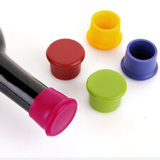 1/2/5X Wine Beer Plug Cap Bottle Cork Silicone Seal Bottle Stopper Gadget