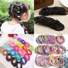 100pcs Hot Hair Cuff Wrap Ponytail Holder Ring Tie Elastic Rubber Hair Band Rope