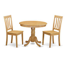 ANTI3-OAK 3 Piece Kitchen Table Set-small kitchen table plus 2 Dining Chairs