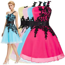 ONE SHOULDER Dress Bridesmaid Ball Cocktail Evening Prom Party Swing Pinup Retro
