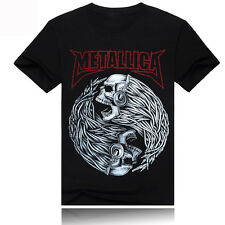 Men's Tee T-Shirt Black IRON MAIDEN  Print Tattoos 3D Art Short Sleeve Graphic