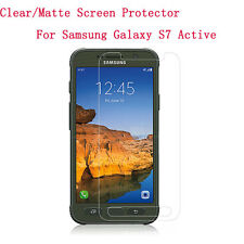 Clear/ Matte Screen Protector For Samsung Galaxy S7 Active + Cleaning cloth Lot
