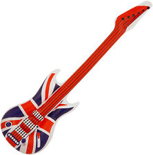 106CM INFLATABLE BLOW UP UNION JACK AIR GUITAR GREAT BRITAIN PARTY TOY