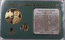 1963 Abraham Lincoln Penny Coin Gettysburg Centennial Set with Proof Medal