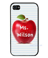 Teacher APPLE FREE Personalized NAME iPhone 4 4S 5 5S 5C Custom Case Cover A17