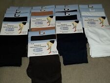 Trouser Socks Opaque One Size Fits All 97% Nylon Various Solid colors as listed