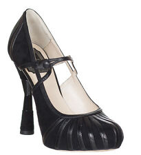 Christian Dior Women's Black Suede Leather High Heel Pumps Shoes