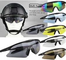 Tactical Sport Cycling Glasses Goggles Sunglasses UV400 Protect Airsoft Shooting