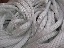 "1/2"" x 200 ft. Solid Braid Nylon rope hank. White. Made in the USA. 6000 lb."