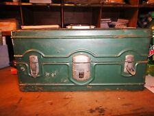 Vintage Climax Hamilton Metal Products Tool Tackle Box GREEN