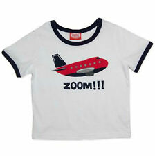 BNWT Baby Toddler Boys Plane Airplane Short Sleeve T-shirt Top - Sizes 0 1 2