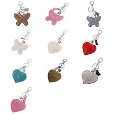 Soft Diamante Butterfly/ Heart Pendant Lobster clasp Keyring Keychain Key Fob