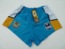 """NRL GOLD COAST TITANS AWAY RUGBY LEAGUE SHORTS """"TELSTRA LOGO"""" - BRAND NEW"""