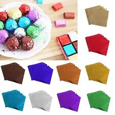 100Pcs Candy Paper Foil Chocolate Wrapping Paper for Wedding Baby Shower 8 x 8cm