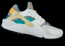 Nike Air Huarache White Atomic Orange Grey Green Womens Trainers 634835 183