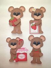 3D~U Pick - Bear Summer Strawberry Jam  Scrapbook Card Embellishment 2353