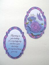 3D ~ U Pick - Birthday Sentiment Butterfly Scrapbook Card Embellishment 1430
