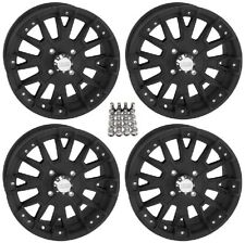 "QuadBoss SCOVILLE BOSS ATV Wheels/Rims Black 14"" (4+3)  Sportsman RZR Ranger"