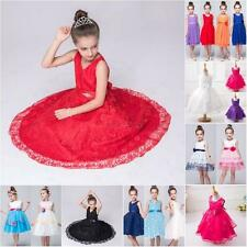 Girl's Princess Dress Kid Party Wedding Pageant Birthday Bridesmaid Tutu Dresses