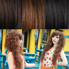 Wavy New Cosplay Long Womens Party Sexy Fashion Full Curly Hair Wigs 3 Colors