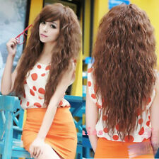 Cosplay Wavy Long Party Hair Wigs Sexy Fashion Womens Full Curly 3 Colors