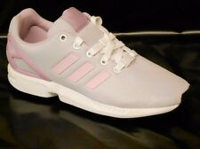adidas ZX Flux GIRLS Size 5 Pink White Running Trainer Shoe EU 38