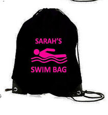 PERSONALISED SWIM SWIMMING GYM PE GAMES DANCE SPORTS SCHOOL BAG BIRTHDAY GIFT