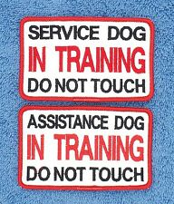 SERVICE ASSISTANCE DOG IN TRAINING DO NOT TOUCH PATCH 2.5X4 Danny & LuAnns Embro
