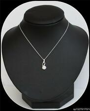 Sterling Silver CZ Pendant and 18inch light open curb chain