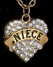 Family-Gifts-Crystal-Love-Heart-Pendant-Rhinestone jewellery for your niece