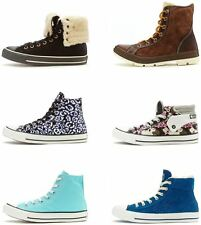 Converse All Star Chuck Taylor Unisex Hi & Mid Print Boot Trainers in All Sizes