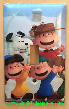 Peanuts Snoopy Charlie Brown Lucy Rerun Light Switch & Duplex Outlet Cover Plate