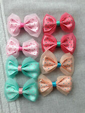 Pair of Girls Baby  Hair Accessories Bows Snaps Alligator Clips Slides
