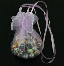 20/50/100X Purple Organza Jewelry Candy Gift Pouches Bags Wedding Favors Bags