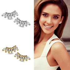 Girls Lady Fashion Women Elegant Crystal Rhinestone Ear Stud Earrings 1 Pair CHI
