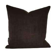 "H/Made Brown  Linen Style Fabric Cushion Covers / Bolster / 16"" 18"" 20"" 22"""