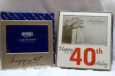 40th Birthday Photo Frames - Clearance Price