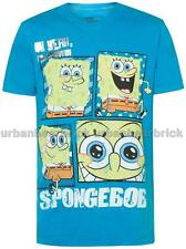 SPONGEBOB Squarepants 4-PANEL T-SHIRT *LICENSED ORIGINAL Blue