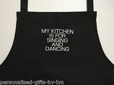 PERSONALISED APRON Your message added to apron, choice of black or white apron