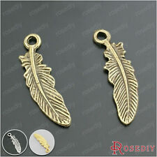100PCS 22*6MM Zinc Alloy Feathers Charms Pendants Jewelry Findings 28487