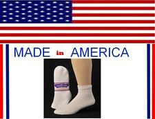 Women Men White Diabetic cotton Ankle Sock 9-11 Shoe Size 4-8 gift her wholesale