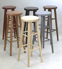BRAND NEW *SOLID & STURDY* HARD BEECH WOOD KITCHEN BAR STOOL WOODEN CHAIR H:80cm