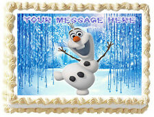 OLAF Frozen Image Edible Cake topper Decoration