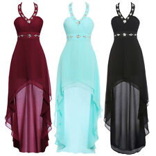 New High-Low Halter Evening Formal Party Bridesmaid Dresses Homecoming Prom Gown