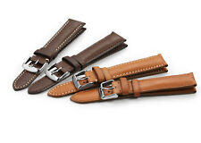 Mens Genuine Leather Watch Band Strap S/S Pin buckle And Spring Bars  For DW